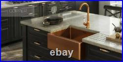 Copper 1.5 Sink Bowl Inset Undermounted Stainless Steel Kitchen Sink, Belfast In