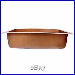 D-shape Copper Kitchen Sink Single Bowl Belfast Farmhouse Butler Style