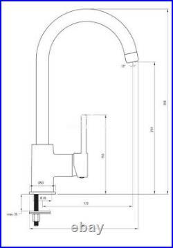 Deante Zorba 1 Bowl Reversible Black Sink 76cm & Mixer U Spout Single Lever Tap