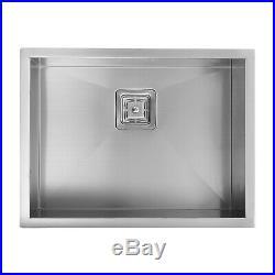 ENKI KS039 Stainless Steel 1 Single Bowl Square Strainer Undermount Kitchen Sink