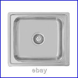 ENKI Single Double 1.5 Bowl Reversible Stainless Steel Kitchen Sink Plumbing Kit