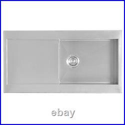 ENKI Single Double 1.5 Bowl Reversible Stainless Steel Kitchen Sink Premium