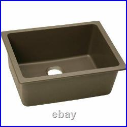 Elkay ELGU2522MC0 Quartz Classic Single Bowl Undermount Sink, Mocha