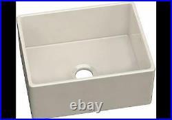 Elkay Fireclay 24-7-16 x 19-11-16 x 9-1-8 Single Bowl Farmhouse Sink Biscuit