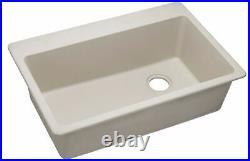 Elkay Quartz Classic 33 x 22 x 9-1-2 Single Bowl Drop-in Sink Bisque