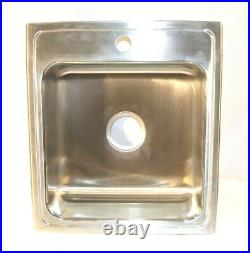 Elkay Single Bowl Drop-in Kitchen Sink Classic 19-1/2 x 22 x 7-5/8 Stainless