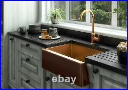 Ellsi Excel Single Bowl Kitchen Sink Stainless Rectangle Undermount Copper Waste
