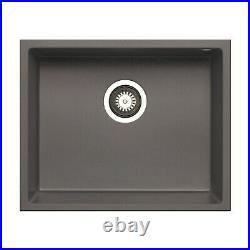 Enza Madison Single Bowl Granite Composite Iron Grey Undermount Kitch BeBa 26203