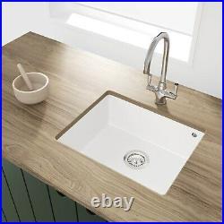 Enzo Madison Single Bowl Composite Granite White Undermount Kitchen S BeBa 26202