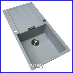 Franke 1.0 Bowl Grey Reversible Composite Kitchen Sink & Chrome Pull Out Tap