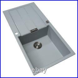 Franke 1.0 Bowl Grey Reversible Composite Kitchen Sink & KT3CU Copper Mixer Tap