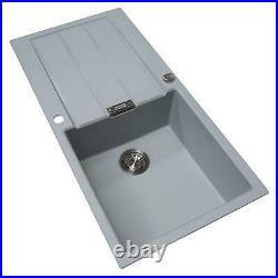 Franke 1.0 Bowl Light Grey Reversible Composite Kitchen Sink & Chrome Mixer Tap
