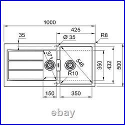 Franke 1.5 Bowl Black Reversible Kitchen Sink with Waste & Chrome Single Lever Tap