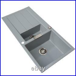 Franke 1.5 Bowl Stone Grey Reversible Composite Kitchen Sink & Single Lever Tap