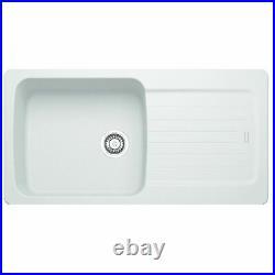 Franke Aveta 1.0 Bowl White Tectonite Kitchen Sink And Reginox Astoria Mixer Tap