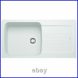 Franke Aveta 1.0 Bowl White Tectonite Kitchen Sink And Reginox Elbe Mixer Tap