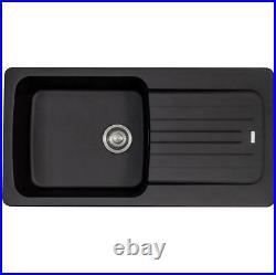 Franke Aveta 1 Bowl Black Tectonite Kitchen Sink & Chrome Swivel Spout Mixer Tap