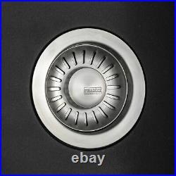 Franke Aveta 1 Bowl Black Tectonite Kitchen Sink & Contemporary Black Mixer Tap