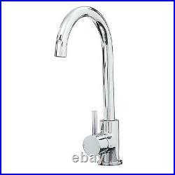Franke Aveta 1 Bowl Black Tectonite Kitchen Sink & Modern Chrome Mixer Tap
