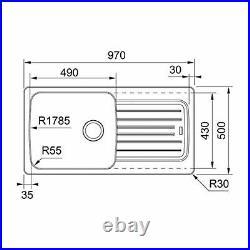 Franke Aveta 1 Bowl Black Tectonite Reversible Kitchen Sink & Pullout Mixer Tap
