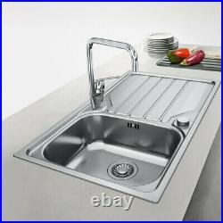 Franke Flash Reversible Stainless Steel Kitchen Sink & Drainer Single Bowl