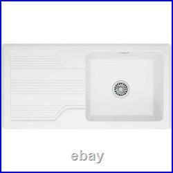 Franke Galassia Single Bowl White Ceramic sink, GAK611