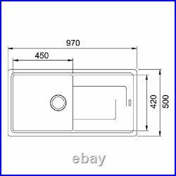 Franke Gemini 1.0 Bowl Black Reversible Kitchen Sink & KT6CH Chrome Mixer Tap