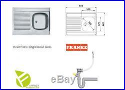Franke Kitchen Sink Single Bowl Sit on Drainer Steel 800 x 600 Deante Mixer Tap