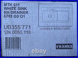 Franke Mythos MTK611 Single Bowl Ceramic White Sink RHD 124.0050.118 Plus More