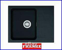 Franke Orion OID 611-62 1.0 Bowl Black Tectonite Reversible Kitchen Sink & Waste
