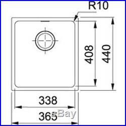 Franke Sirius 1.0 Bowl Black Tectonite Undermount Kitchen Sink SID110-34 BLK