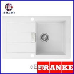 Franke Sirius SID611-78 1.0 Bowl White Tectonite Reversible Kitchen Sink & Waste