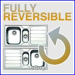 Franke Sirius SID611CO 1.0 Bowl Coffee Tectonite Reversible Kitchen Sink & Waste