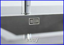 GROHE K700 Sink 1.0 Single Bowl Inset Kitchen, Stainless Steel