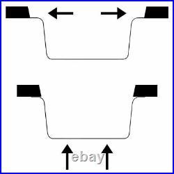 Granite Kitchen Sink Single Basin 1 Deep Bowl White Undermount Strainer Basket