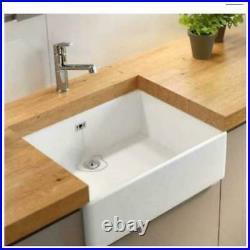 Grasmere By Wren Single Bowl Belfast/ Butler Style White Ceramic Sit In Sink