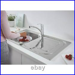 Grohe Single Bowl Reversible Drainer Stainless Steel Chrome Kitchen Sink