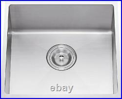 HANDMADE R10 (1.2m) Stainless Steel Kitchen Sink Single Bowl & Waste Kit (F)