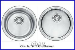 Hafele Bourne Circular Single Bowl Stainless Steel Sink & Drainer Round Sink