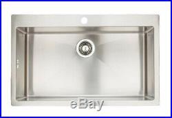 Hafele Damson Large Square Single Bowl Stainless Steel Inset Kitchen Sink