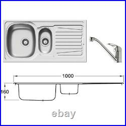 Hafele Sparta Sink And Tap Set, Single / 1.5 Bowl With Drainer Kitchen Sinks