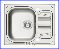 Hafele Sparta Sink Single Bowl With Drainer Kitchen Sinks Satin Stainless Steel