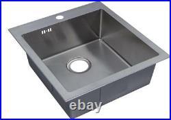 Handmade Single 1.0 Bowl Satin Stainless Steel Inset Kitchen Sink (DS026-1)