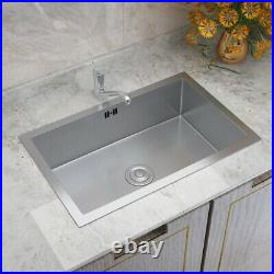 Handmade Stainless Steel Kitchen Square Sink 1.0 Single Bowl with Silencer Pad