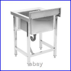 HeavyDuty Stainless Steel Utility Sink & Table Single Bowl Wash Catering Kitchen