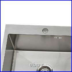 Inset Kitchen Sink Single Bowl Stainless Steel 1.0 LH / RH Drainer + Waste Kit
