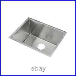 KABCO 23 Laundry Sink, 304 Stainless Steel, 16 Ga, Single Bowl, Undermount