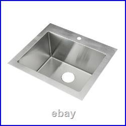 KABCO 25 Laundry Sink, Top and Undermount, 304 SS, 16 Ga, SB, Single Bowl