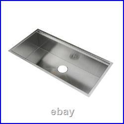 KABCO 38 Kitchen Sink, Undermount, 304 SS, 16 Ga, Single Bowl