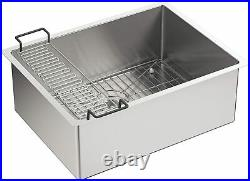 KOHLER K-5286-NA Strive Under-Mount Single Bowl Kitchen Sink with Basin Rack